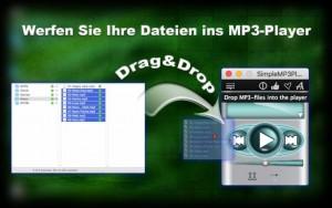 Werfen Sie Ihre Dateien ins MP3-Player